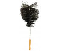 Ёршик для колбы капля черный с пластиковой ручкой