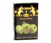 Табак Al Shaha Green Apple Kiwi Lime (Яблоко Киви Лайм) 50 грамм