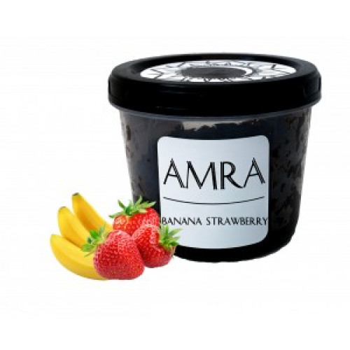 Купити Тютюн Amra Moon Banana Strawberry (Амра Банан Полуниця) 100 грам