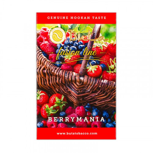 Купити Тютюн для кальяну Buta Fusion Berrymania (Бута Ягоди)