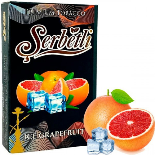 Табак для кальяна Serbetli Ice Grapefruit (Щербетли Ледяной Грейпфрут) 50 грамм