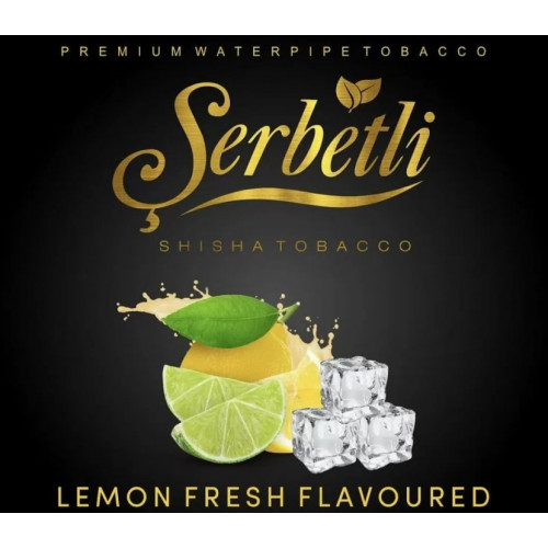 Тютюн для кальяну Serbetli Lemon Fresh (Щербетлі Лимонний Фреш) 50 грам