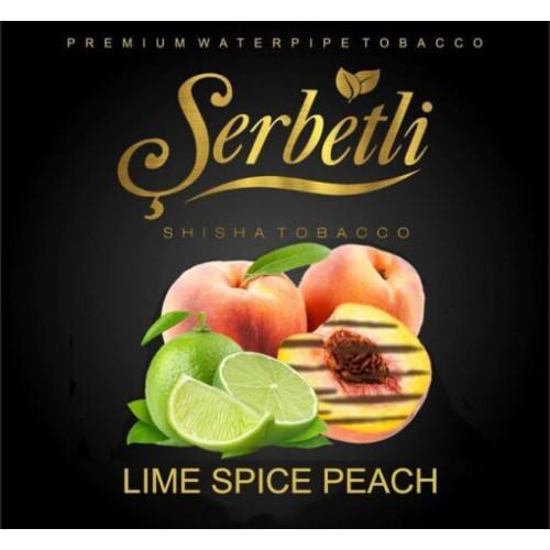 Табак для кальяна Serbetli Lime Spiced Peach (Лайм и Персик со специями) 50 грамм
