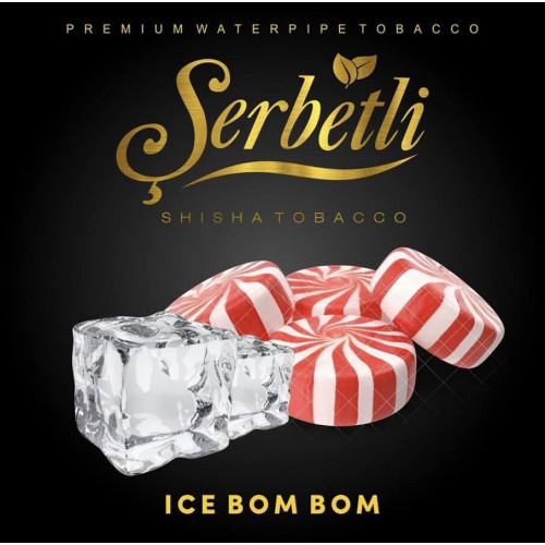 Тютюн Serbetli Ice Bom Bom (Крижані Льодяники) 50 грам