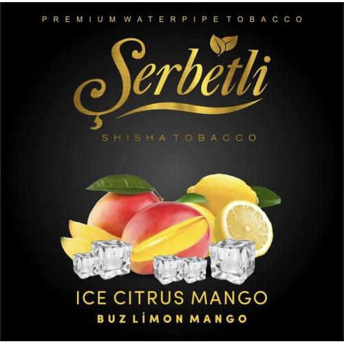 Табак для кальяна Serbetli Ice Citrus Mango (Ледяной Цитрус с Манго) 50 грамм