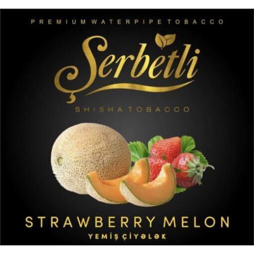 Табак для кальяна Serbetli Strawberry Melon (Клубника Дыня) 50 грамм