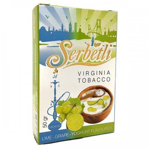 Табак для кальяна Serbetli Lime Grape Yoghurt 50 грамм
