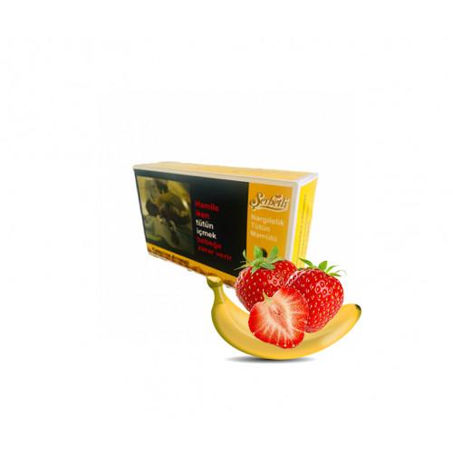 Тютюн Serbetli Strawberry Banana (Банан Полуниця) 500 грам