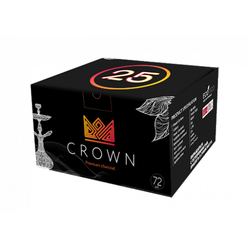 Уголь кокосовый Crown (Краун) 72 кубика 1 кг
